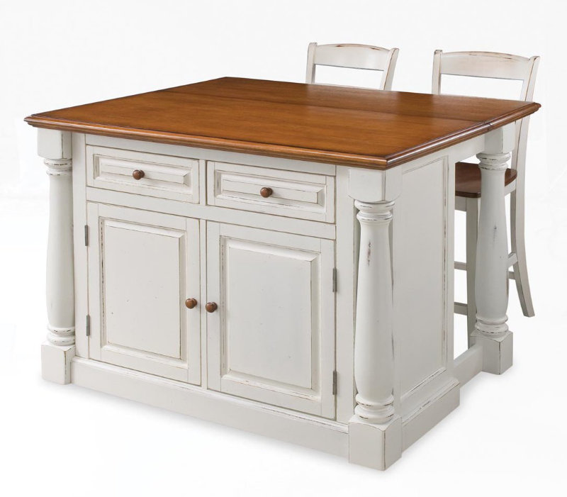 Kitchen island with stools Photo - 4