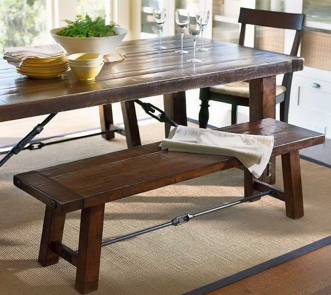 Kitchen table with bench Photo - 7