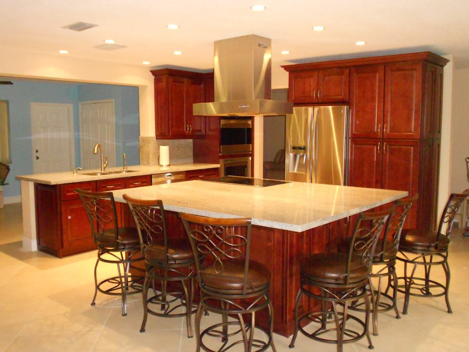 extend your cooking area with the help of a large kitchen