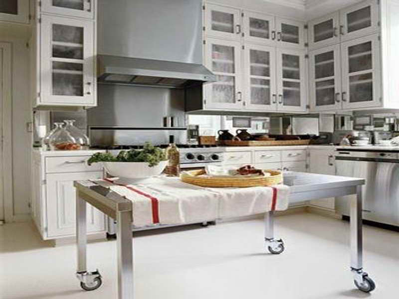 Stainless steel kitchen island – gloss and style of your ...