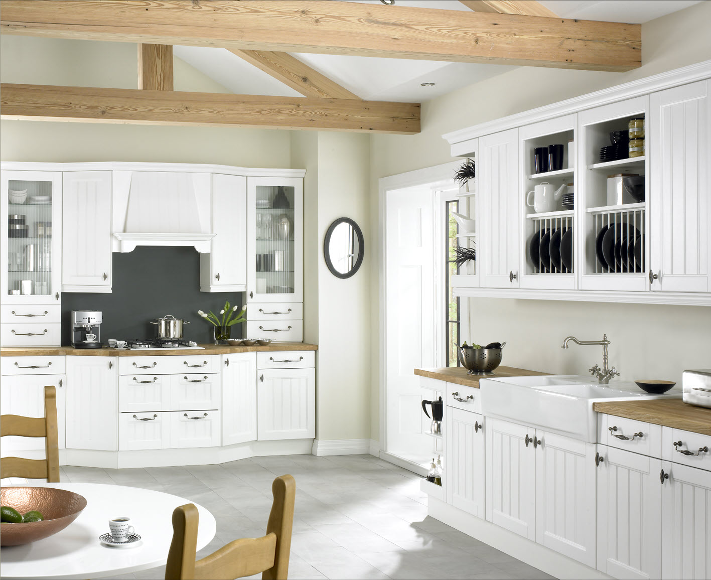 White kitchen chairs Photo - 8