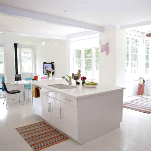 White kitchen island Photo - 9