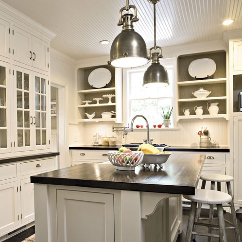 White kitchen island Photo - 6