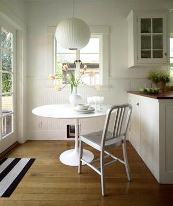 White kitchen table Photo - 9