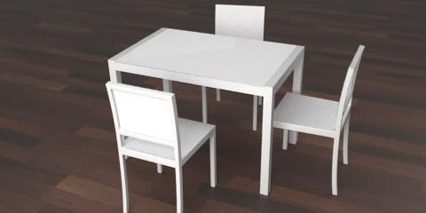 White kitchen table Photo - 5