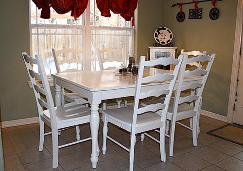White kitchen table Photo - 8