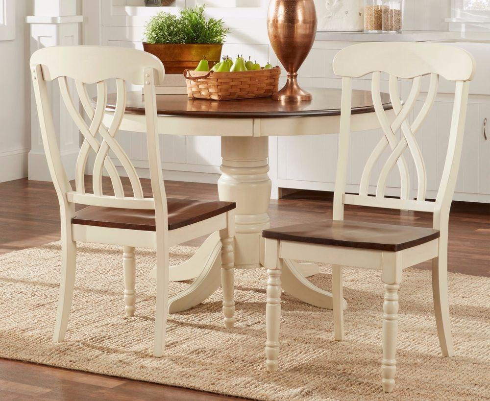 Antique white kitchen chairs Photo - 11