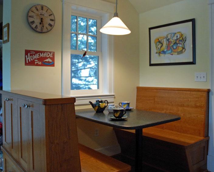 bench corner kitchen table photo