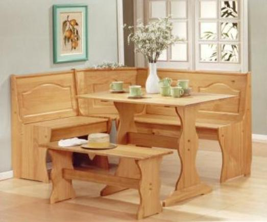 Dining room table bench seating dining room set with bench for Dining room sets with bench seat