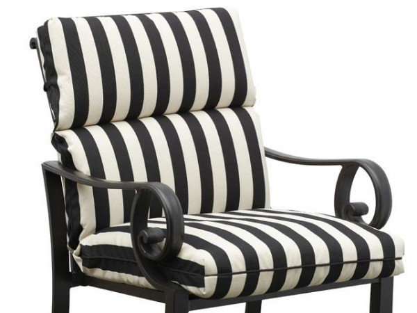Black and white kitchen chair cushions Photo - 2