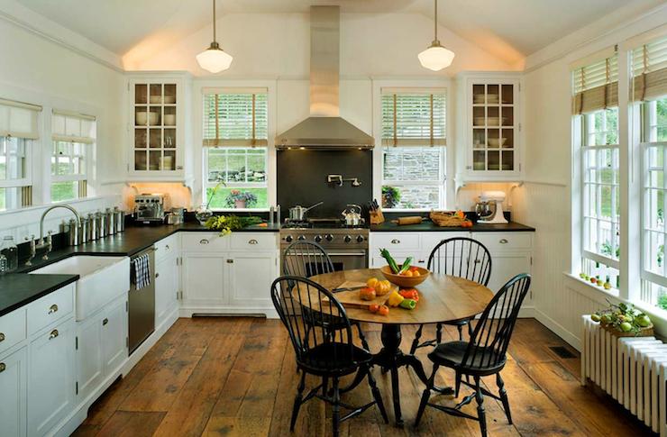 Black distressed kitchen table  Kitchen ideas