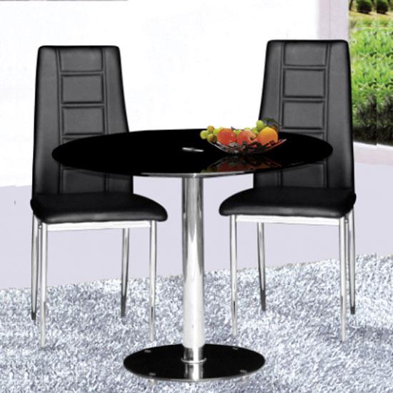 black glass kitchen table 2