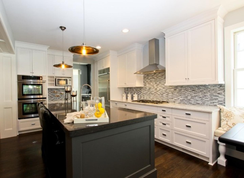 black granite kitchen island shaker kitchen island Black granite kitchen island Photo 9