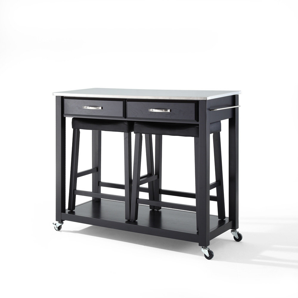 Black Kitchen Island Cart Photo 5