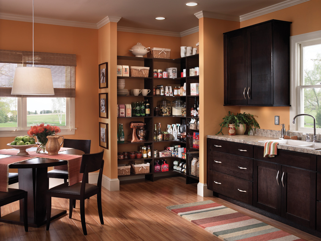 Black kitchen pantry cabinet Photo - 11