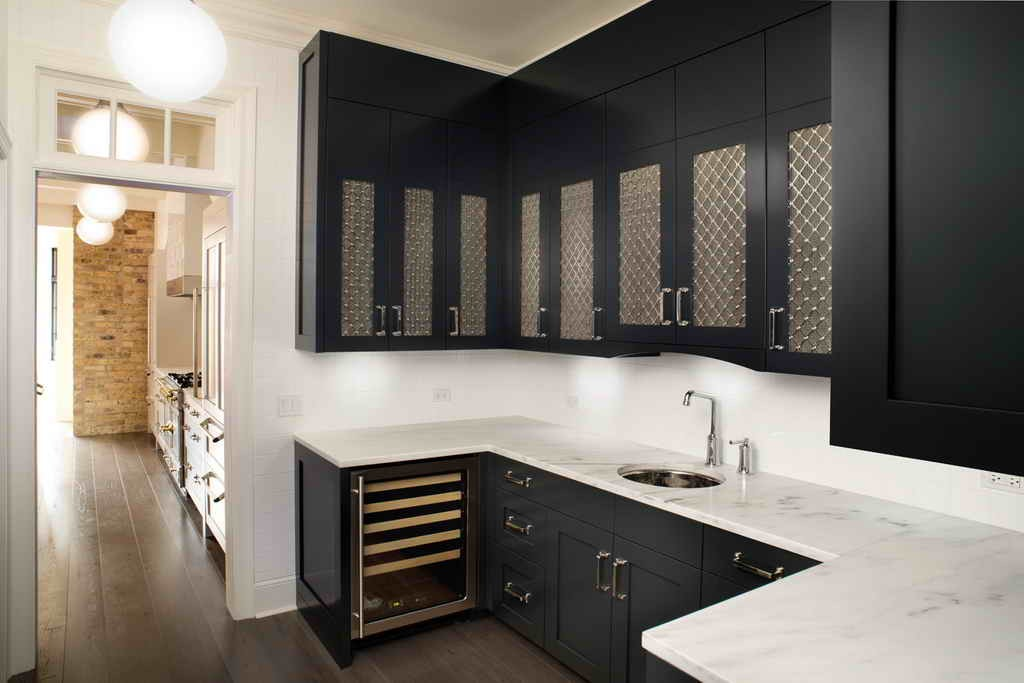 Black kitchen pantry cabinet Photo - 12