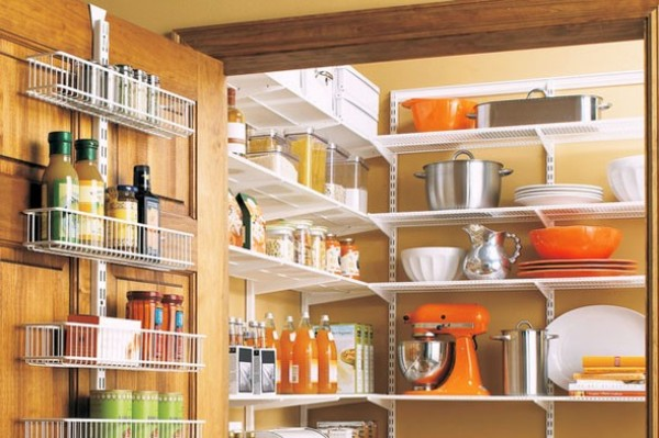 Black kitchen pantry cabinet Photo - 3