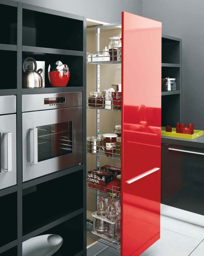 Black kitchen pantry cabinet Photo - 7