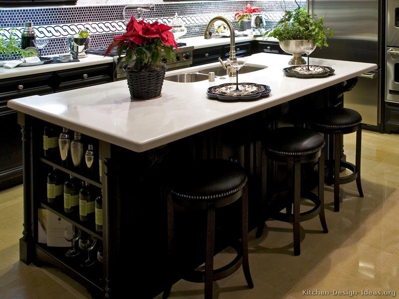 Black kitchen stools Photo - 4
