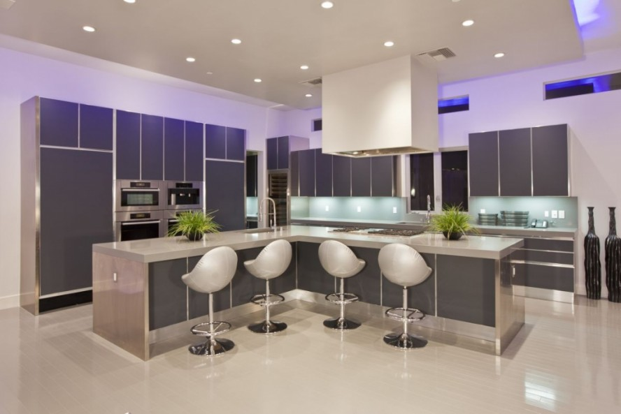 Black kitchen stools Photo - 8