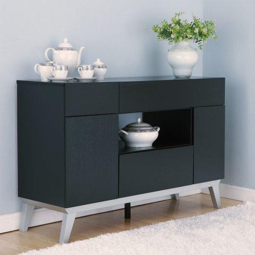 Black kitchen storage cabinet Photo - 10