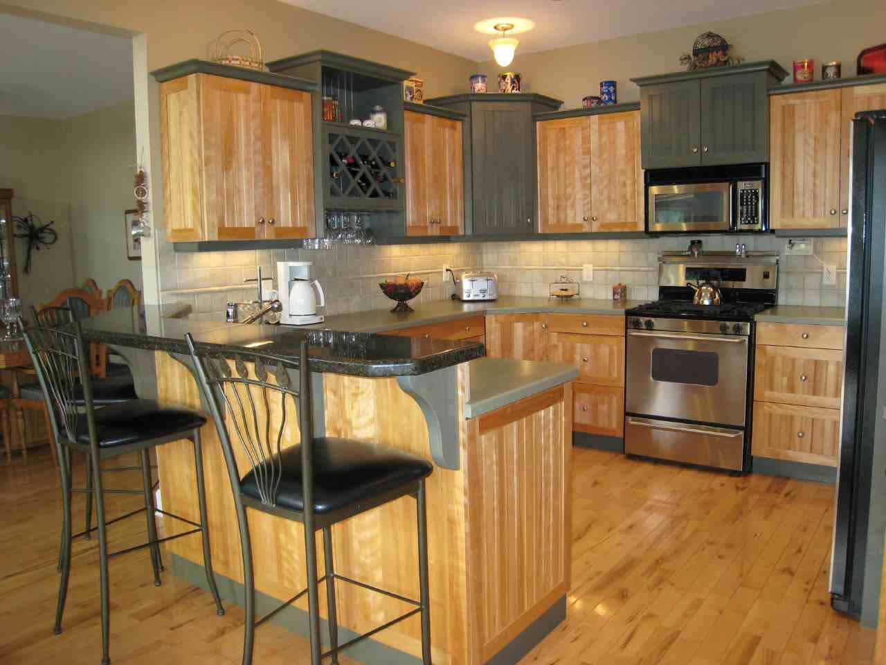 Black kitchen storage cabinet Photo - 4