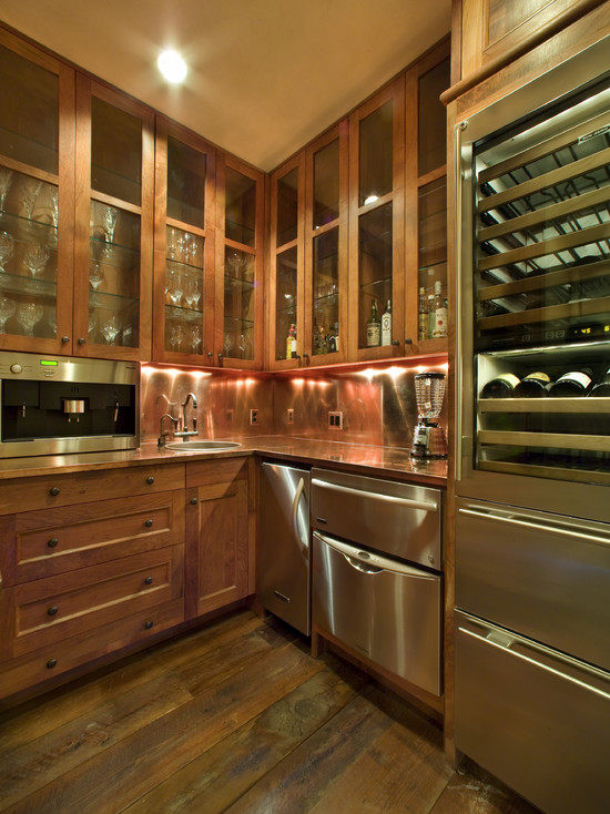 Black kitchen storage cabinet Photo - 7