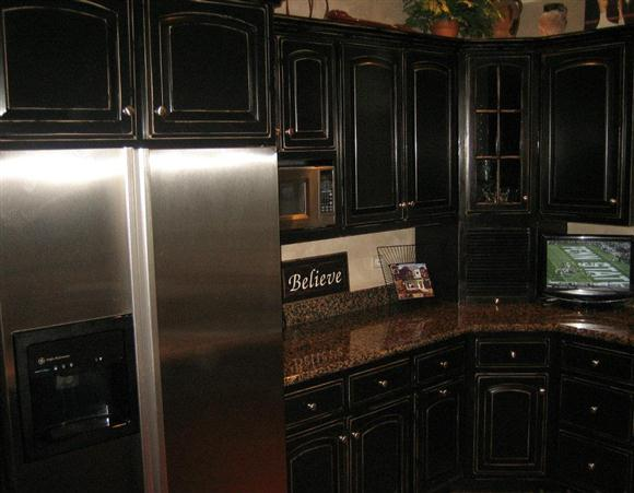 Black knobs for kitchen cabinets Photo - 9