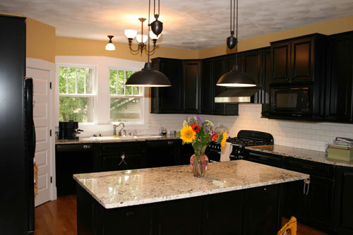 Black knobs for kitchen cabinets Photo - 1