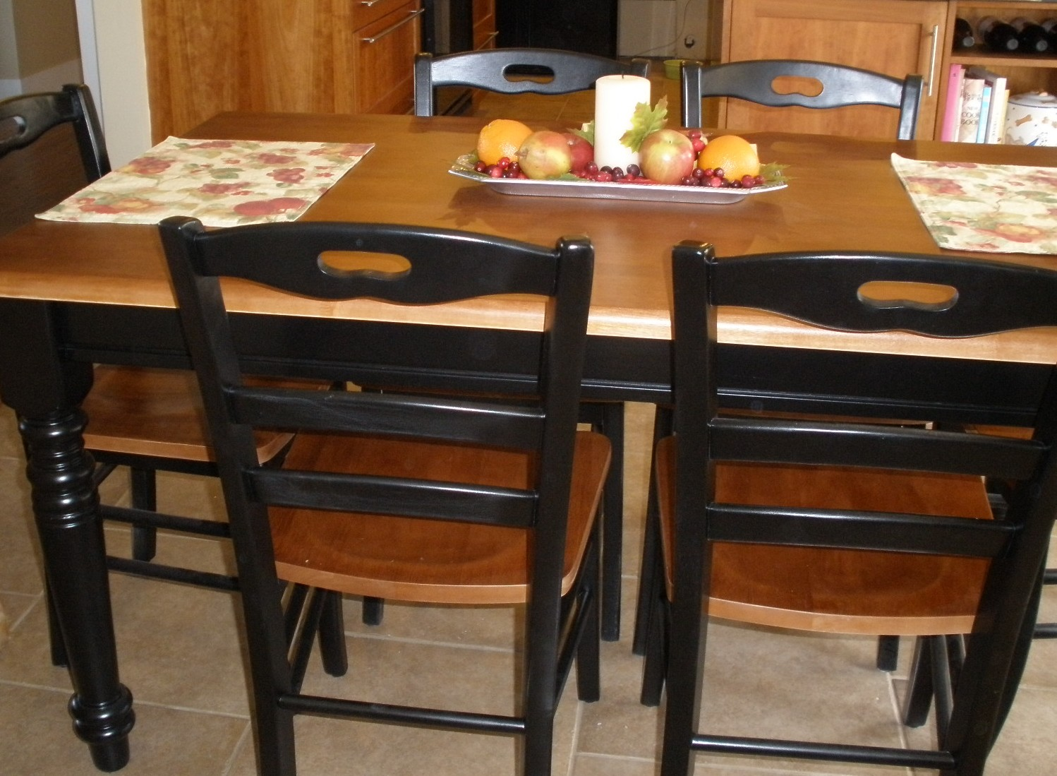 Black wood kitchen table Photo 5