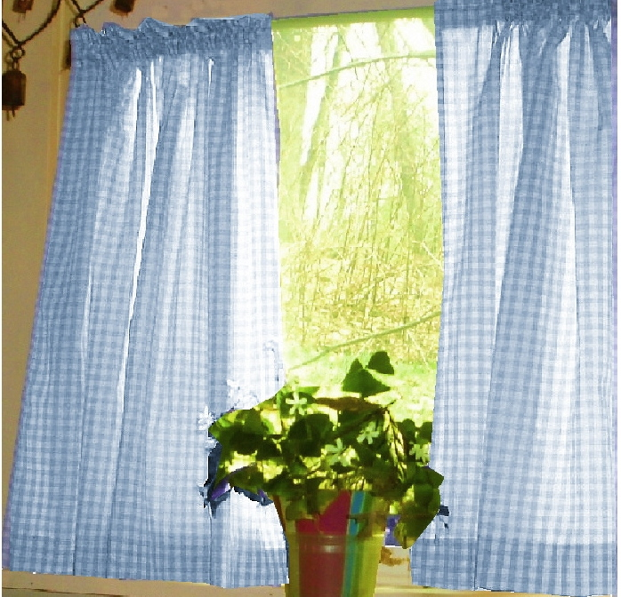 Blue And White Kitchen Curtains Photo 3