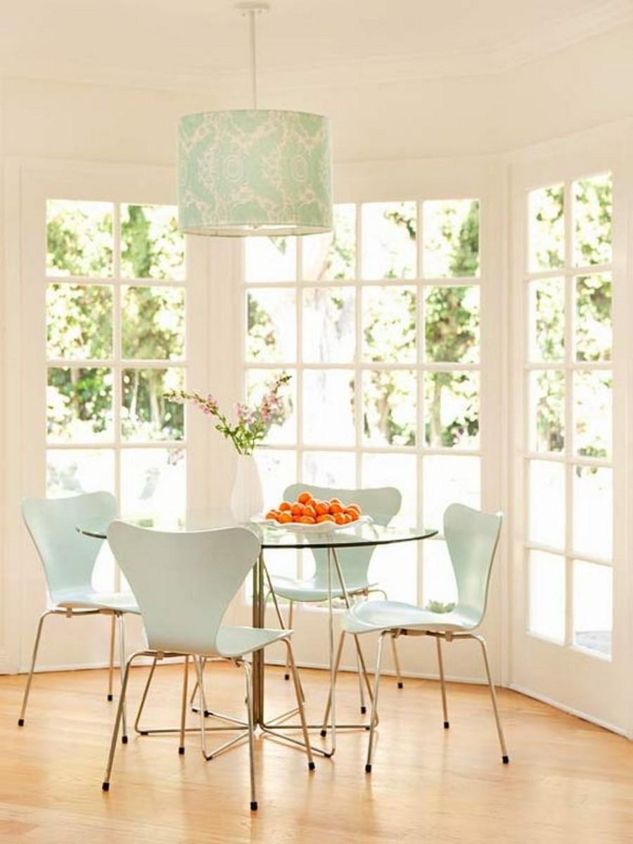Blue kitchen chairs Photo - 9