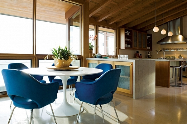 Blue kitchen chairs Photo - 10