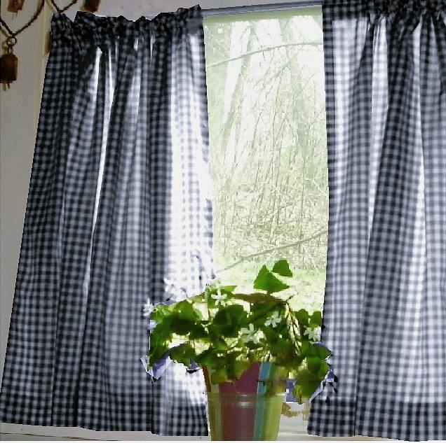 Blue Kitchen Curtains Photo 5