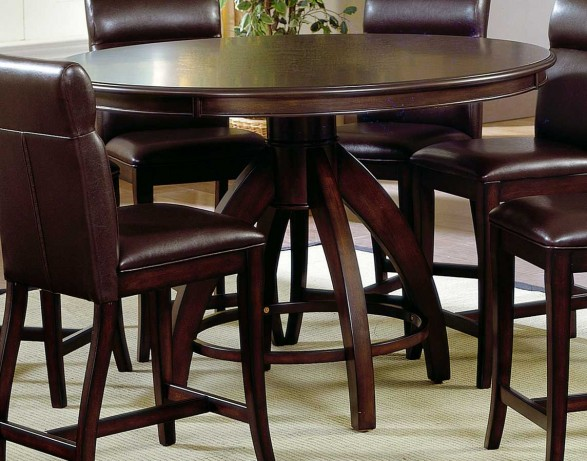 Brown leather kitchen chairs Photo - 10