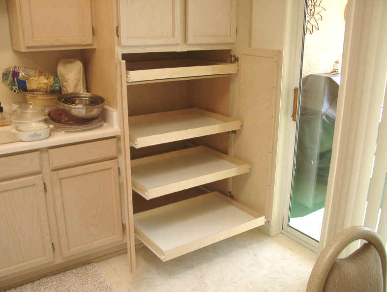 Cabinet pull out shelves kitchen pantry storage Photo - 1