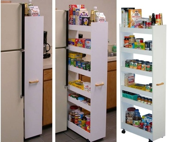 Cabinet pull out shelves kitchen pantry storage Photo - 10