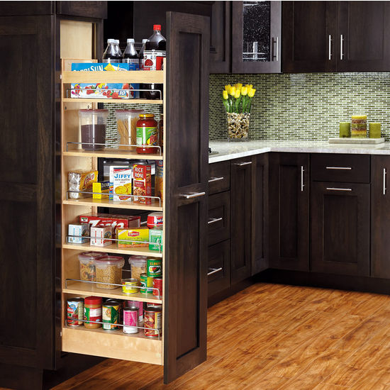 Cabinet pull out shelves kitchen pantry storage Photo - 11