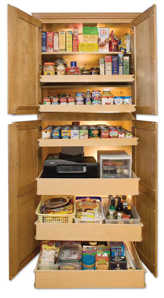 Cabinet pull out shelves kitchen pantry storage Photo - 2