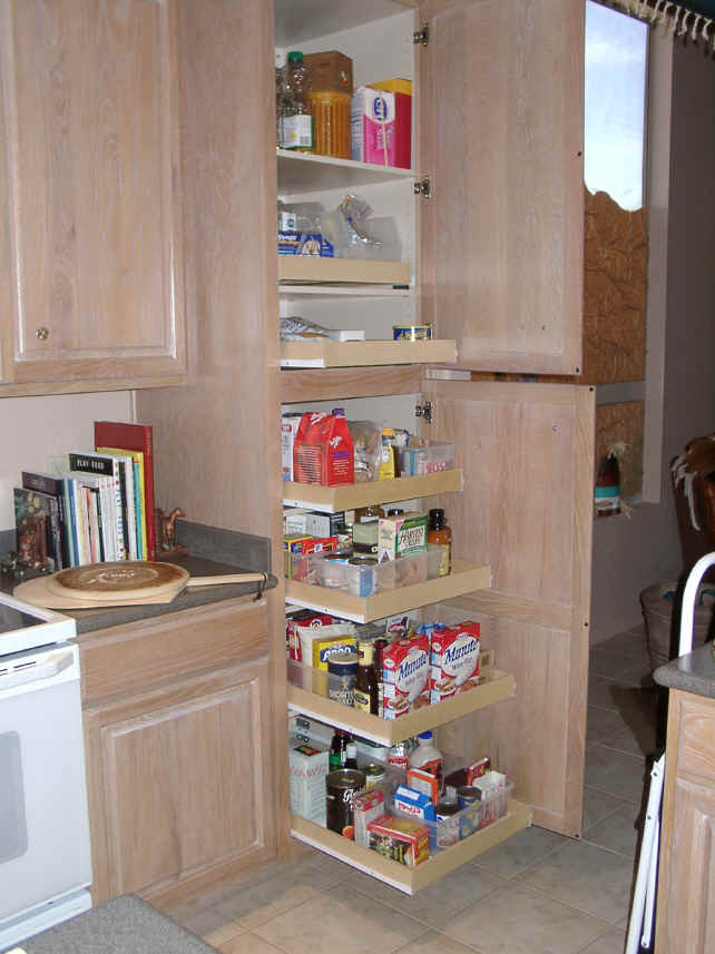Cabinet pull out shelves kitchen pantry storage Photo - 4