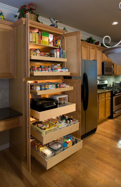 Cabinet pull out shelves kitchen pantry storage Photo - 5