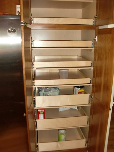 Kitchen Cabinets With Slide Out Shelves - Monsterlune