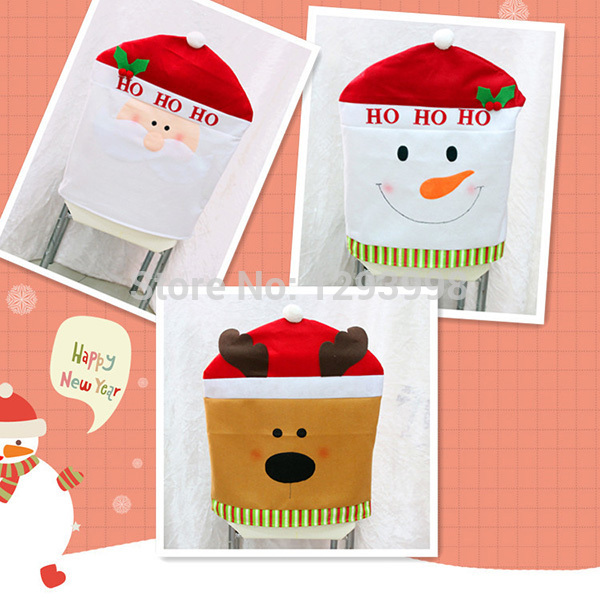 Kitchen Chair Covers Santa Chair Covers Santa Chair Covers – Christmas Chair Pads