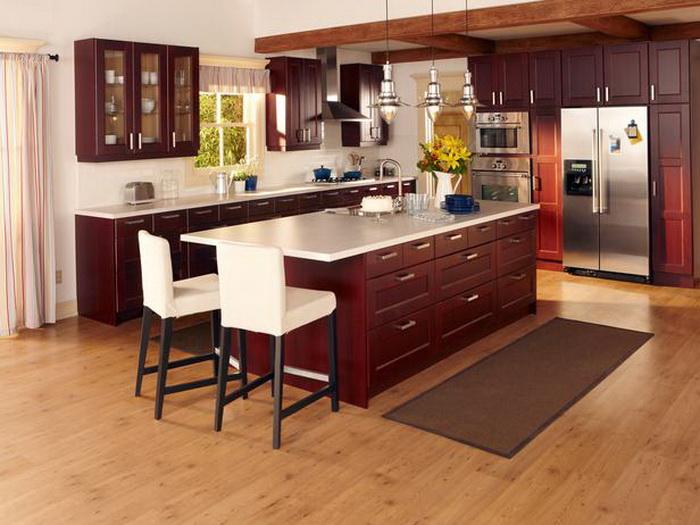 Cherry kitchen chairs kitchen ideas for Royal mahogany kitchen designs
