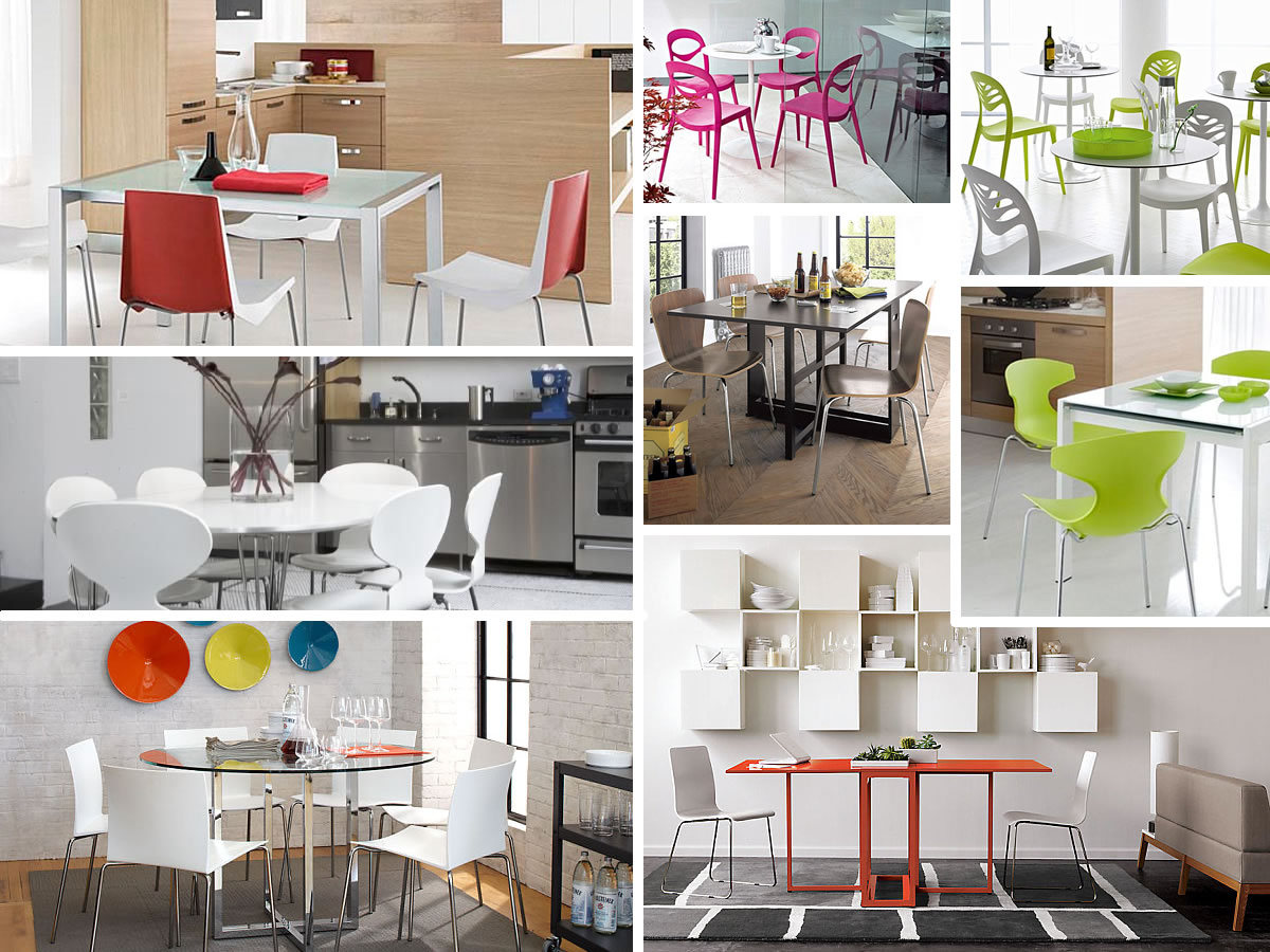 Colorful kitchen chairs Photo - 4