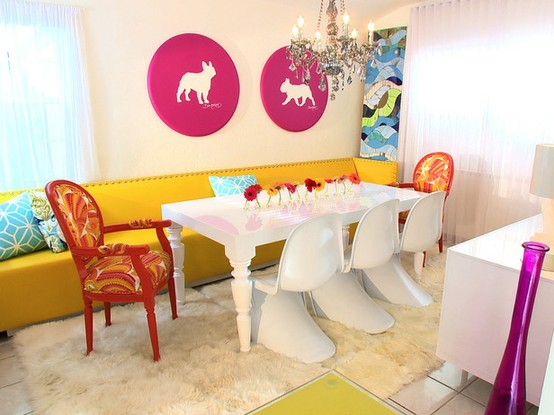Modern Dining Room Colors colorful kitchen rugs. zamp.co