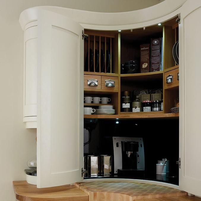 Corner kitchen pantry cabinet Photo - 6