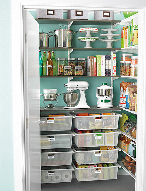 Corner kitchen pantry cabinet Photo - 7