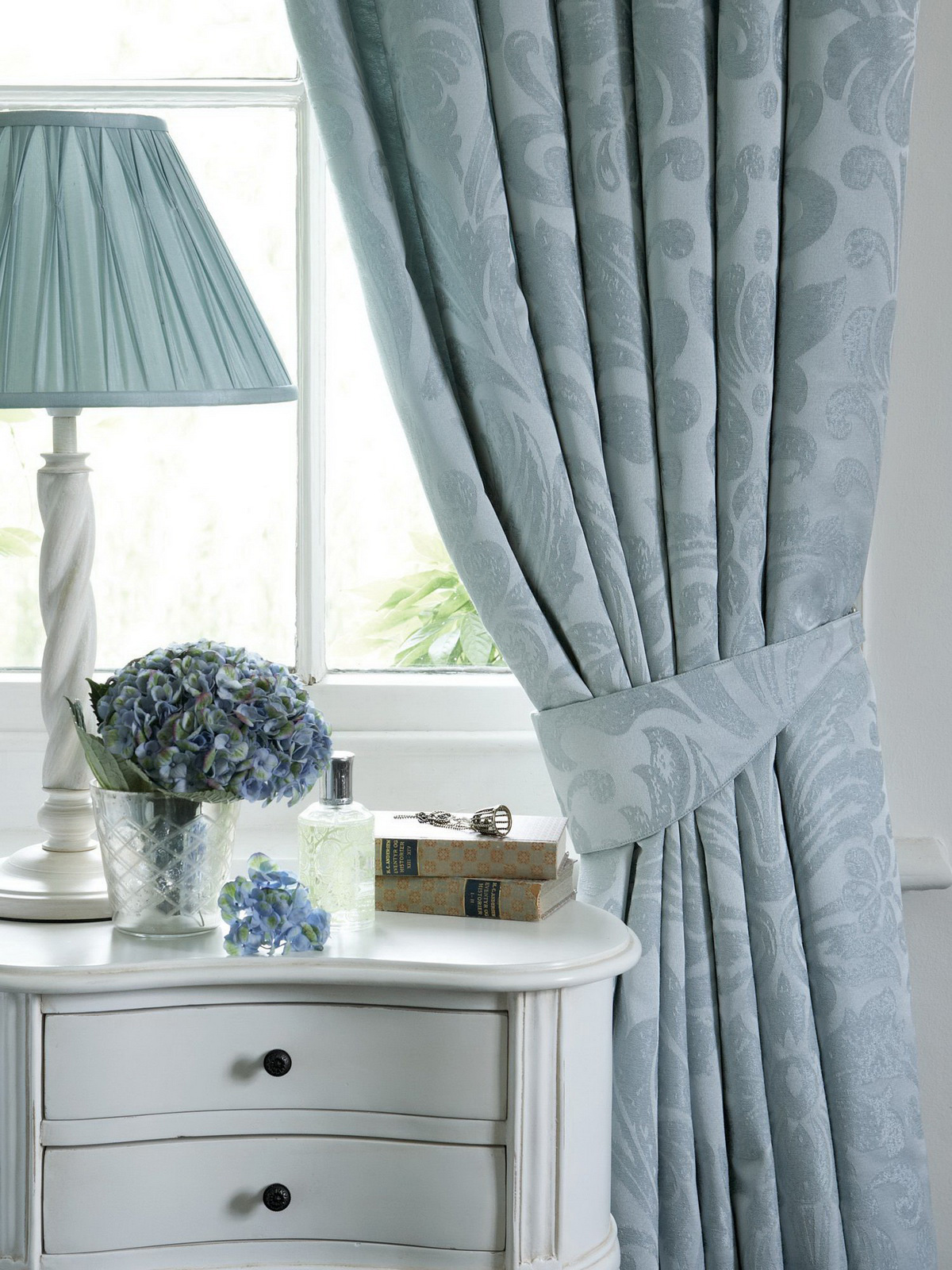 Damask Kitchen Curtains Photo