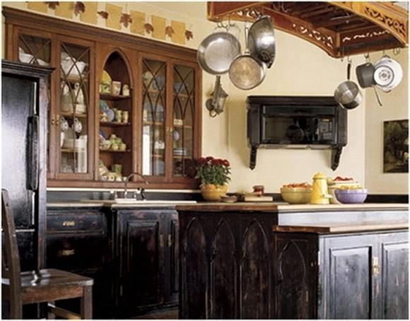 Rustic Black Kitchen Distressed Black Kitchen Island  Kitchen Ideas